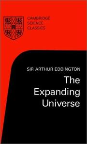 Cover of: The expanding universe