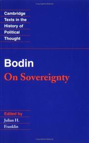 Cover of: On sovereignty