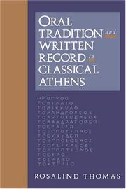 Cover of: Oral tradition and written record in classical Athens