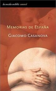 Cover of: Memorias de España