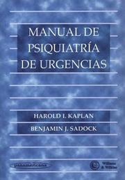 Cover of: Manual de Psiquiatria de Urgencias
