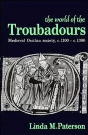 Cover of: world of the troubadours | Linda M. Paterson