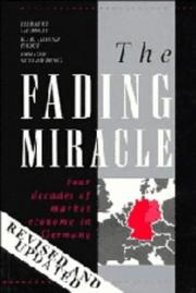 Cover of: The fading miracle | Herbert Giersch