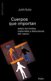 Cover of: Cuerpos Que Importan