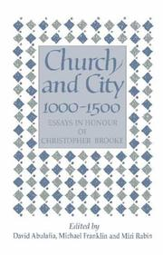 Cover of: Church and city, 1000-1500