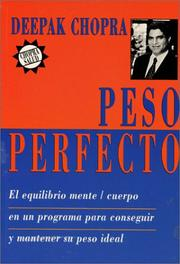 Cover of: Peso perfecto