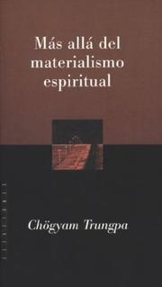 Cover of: Mas Alla del Materialismo Espiritual