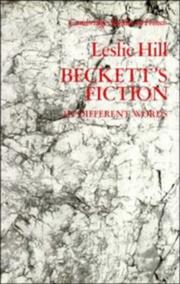 Cover of: Beckett's fiction in different words