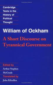 Cover of: William of Ockham