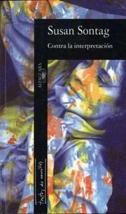 Cover of: Contra La Interpretacion