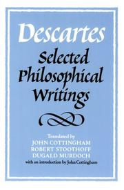 Cover of: Descartes | René Descartes