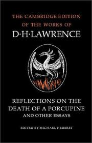Cover of: Reflections on the death of a porcupine, and other essays