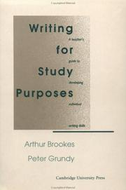 Cover of: Writing for Study Purposes | Arthur Brookes