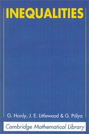 Cover of: Inequalities (Cambridge Mathematical Library) | G. H. Hardy, J. E. Littlewood, George Pólya