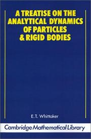Cover of: A treatise on the analytical dynamics of particles and rigid bodies