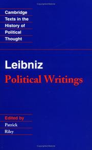 Cover of: Leibniz: Political Writings (Cambridge Texts in the History of Political Thought)