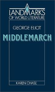 Cover of: George Eliot, Middlemarch