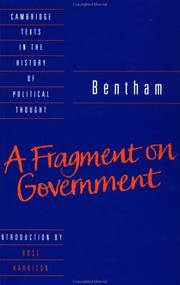 Cover of: A fragment on government