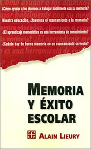 Cover of: Memoria Y Exito Escolar