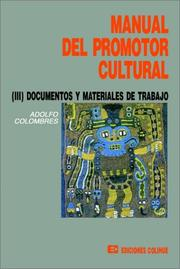 Cover of: Manual Del Promotor Cultural III