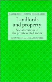 Cover of: Landlords and property | Allen, John