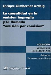Cover of: La Causalidad En La Omision Impropia