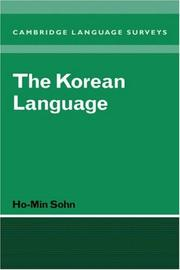 Cover of: The Korean language | Ho-min Sohn