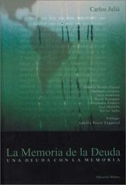 Cover of: La Memoria de La Deuda