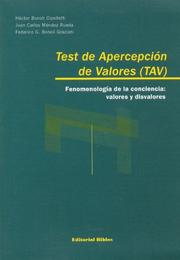 Cover of: Test de Aprecepcion de Valores (Tav)