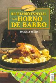 Cover of: Recetario especial para horno de barro/ Special Recipes for Clay Ovens