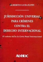 Cover of: Jurisdiccion Universal Para Crimenes Contra El Derecho Internacional