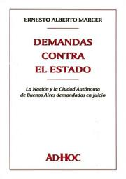 Cover of: Demandas Contra El Estado