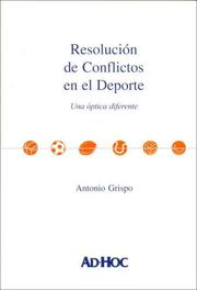 Cover of: Resolucion de Conflictos En El DePorte