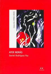 Cover of: Ayer Nomas