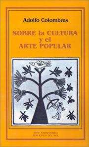 Cover of: Sobre la Cultura y el Arte Popular