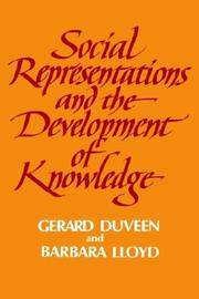 Cover of: Social Representations and the Development of Knowledge