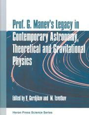 Cover of: Prof. G. Manev
