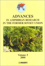 Cover of: Advances in Amphibian Research in the Former Soviet Union | Sergius L. Kuzmin