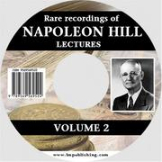 Cover of: Rare Recordings of Napoleon Hill Lectures, Vol.2 (of 9)