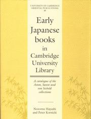 Cover of: Early Japanese books in Cambridge University Library | Cambridge University Library.