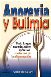 Cover of: Anorexia Y Bulimia