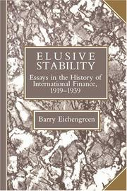 Cover of: Elusive stability