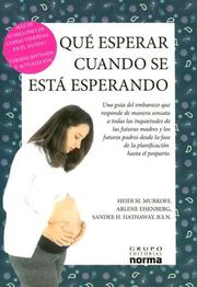 Cover of: Que Esperar Cuando Se Espera/what to Expect When You Are Expecting