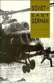 Cover of: The Soviet-East German military alliance