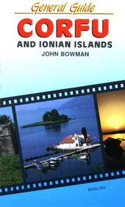 Cover of: Corfu and Ionian Islands | John Bowman