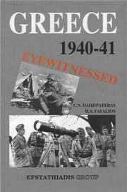 Cover of: Greece 1940-41 eyewitnessed