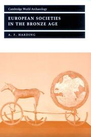 Cover of: European Societies in the Bronze Age (Cambridge World Archaeology)