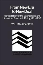 Cover of: From New Era to New Deal | William J. Barber