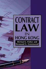 Cover of: Contract law in Hong Kong