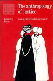 Cover of: The anthropology of justice
